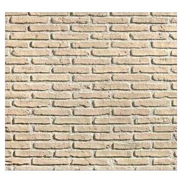 Panneau en imitation brique alhambra ocre plastruction - Panneau imitation pierre ...