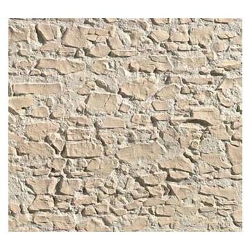 Panneau en imitation pierre s che ocre plastruction - Panneau imitation pierre ...