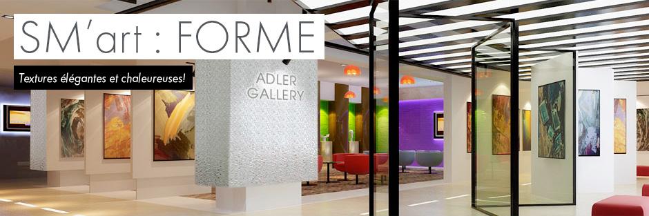 Forme par SM'Art - Textures élégantes et chaleureuses!