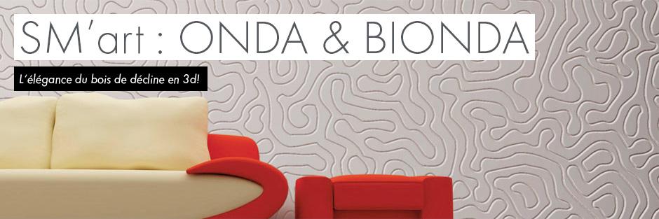 Onda & Bionda par SM'Art - L'élégance du bois se décline en 3d!
